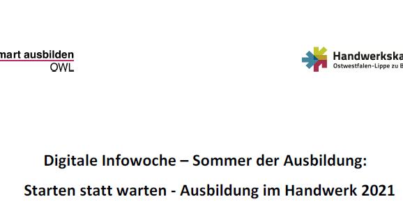 Digitale Infowoche – Sommer der Ausbildung - 07.06.2021 - 11.06.2021